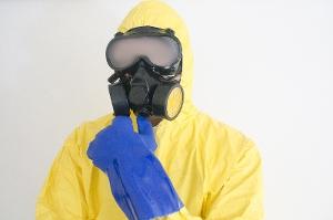 ガスマスク防護服