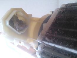 排気ダクトの口に積もったホコリ