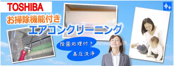 「東芝製フィルターお掃除ロボットエアコンクリーニング」高圧洗浄、除菌処理付き
